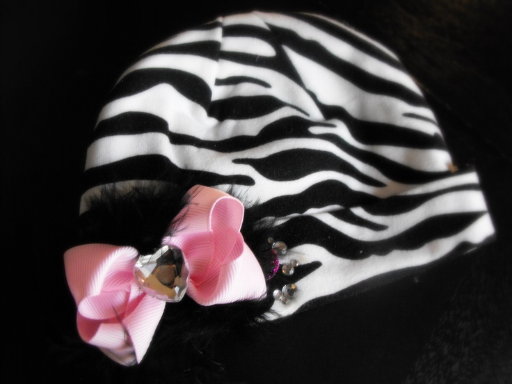 Newborn Zebra print beanie - Hot seller at my craft shows