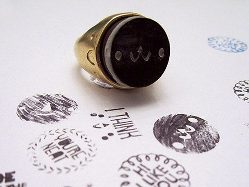 stamp ring from Michelle Romo at Crowded Teeth - adorable Kickstarter project!