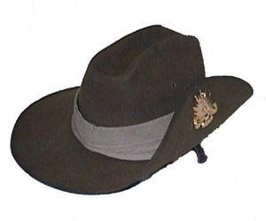 The Great Australian Hat Company Australian Army Style Fur Felt Slouch Hat