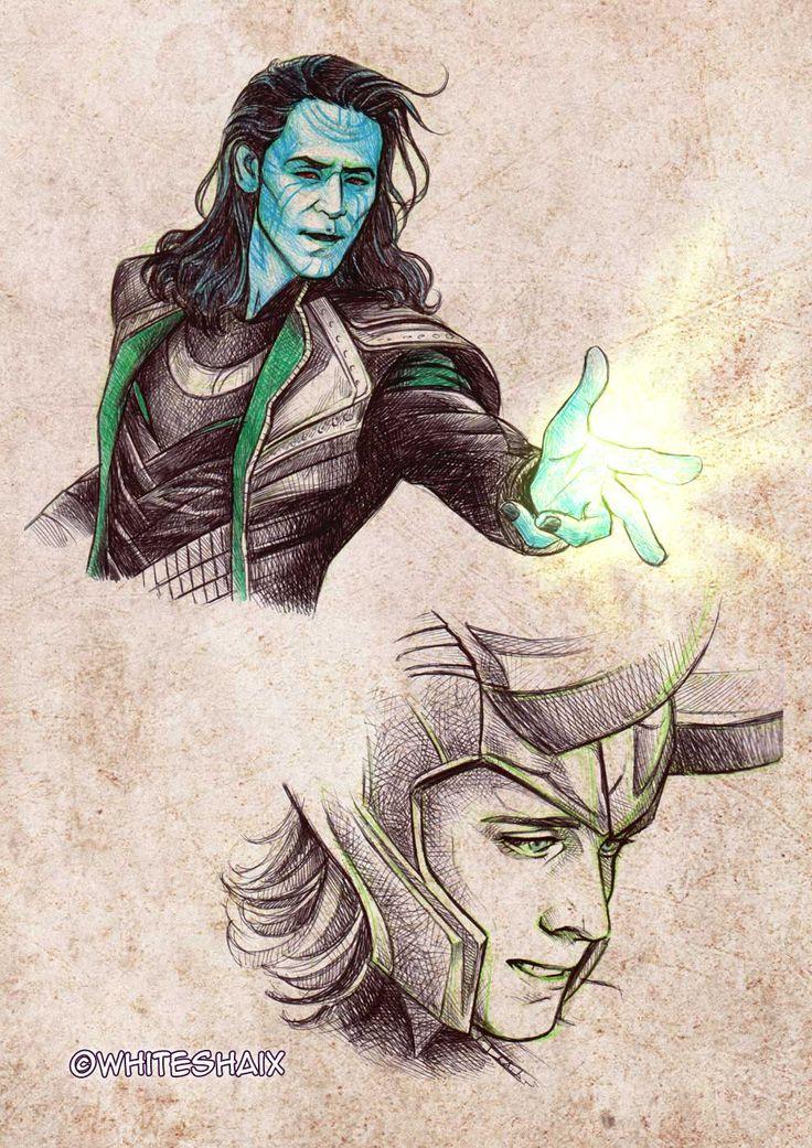 Loki sketches 02 by whiteshaix on DeviantArt