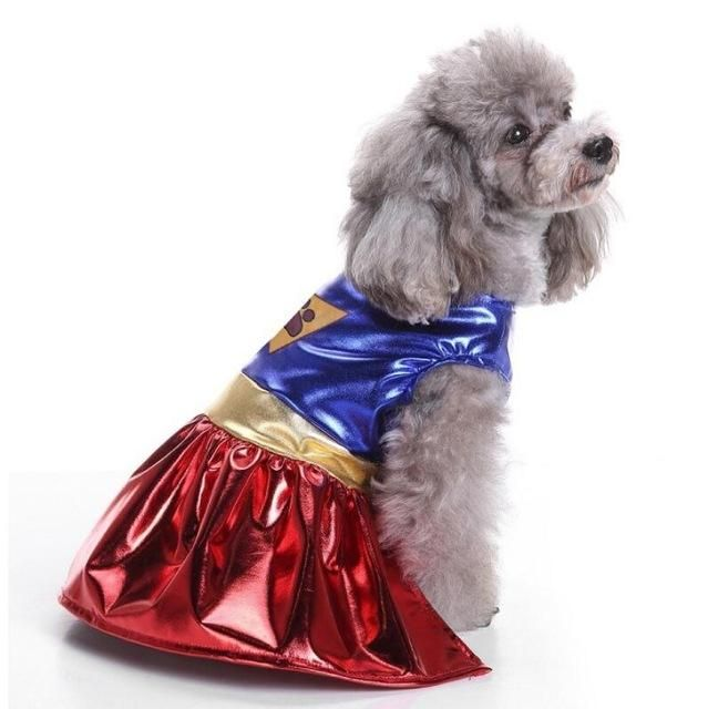 Super Dog Halloween Costume For Small Dogs Stainlesssteel