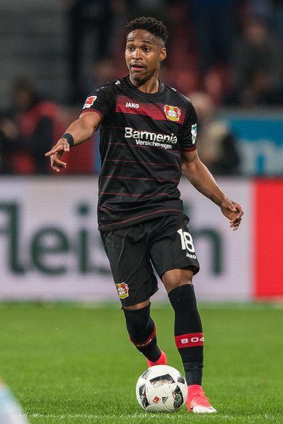 Wendell Nascimento Borges of Leverkusen in action during the Bundesliga match between Bayer 04 Leverkusen and FC Schalke 04 at BayArena on April 28, 2017 in Leverkusen, Germany.