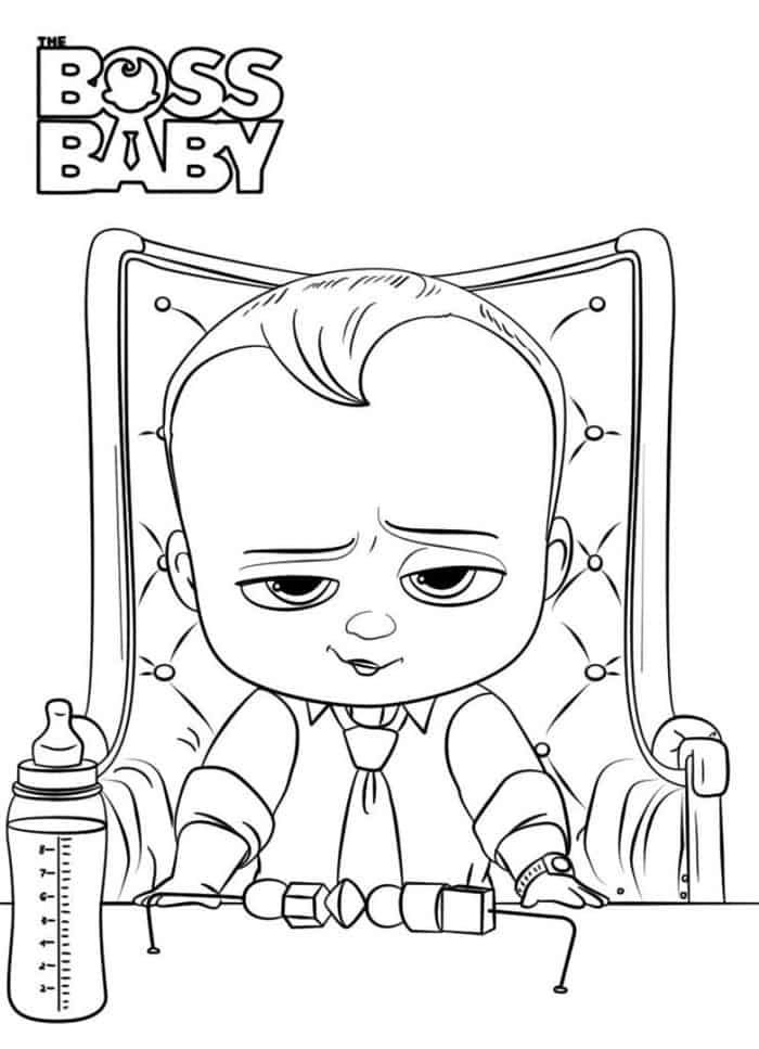 The Boss Baby Coloring Pages Baby Coloring Pages Cartoon Coloring Pages Kitty Coloring