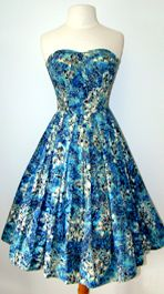 ALFRED SHAHEEN 1950's HAWAIIAN SUN DRESS