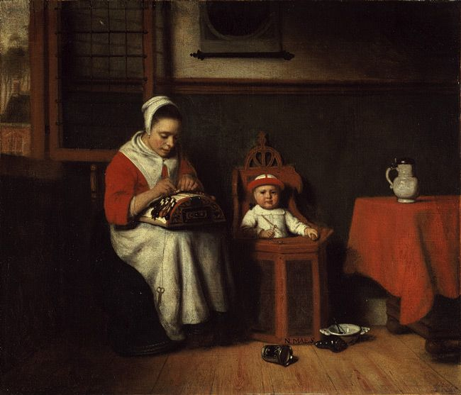 Nicolaes Maes: The Lacemaker (32.100.5) | Heilbrunn Timeline of Art History | The Metropolitan Museum of Art