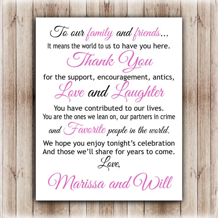 Thank You Wedding Sign Reception By ParraclanDesigns On Etsy