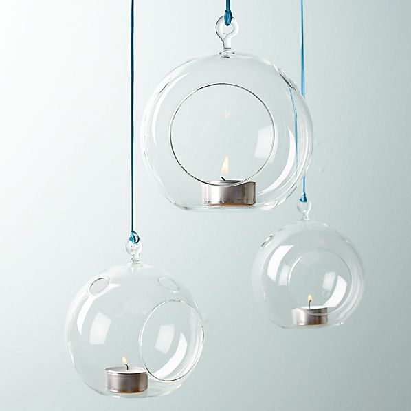 whirly hanging tea light candle holder  | CB2