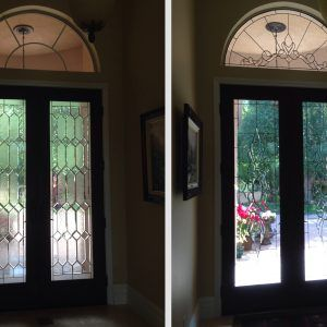 Beveled Glass Door Panels