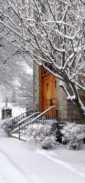 Church on a snowy morning in Marblehead, Ohio photo Terrance Vacha on Flickr