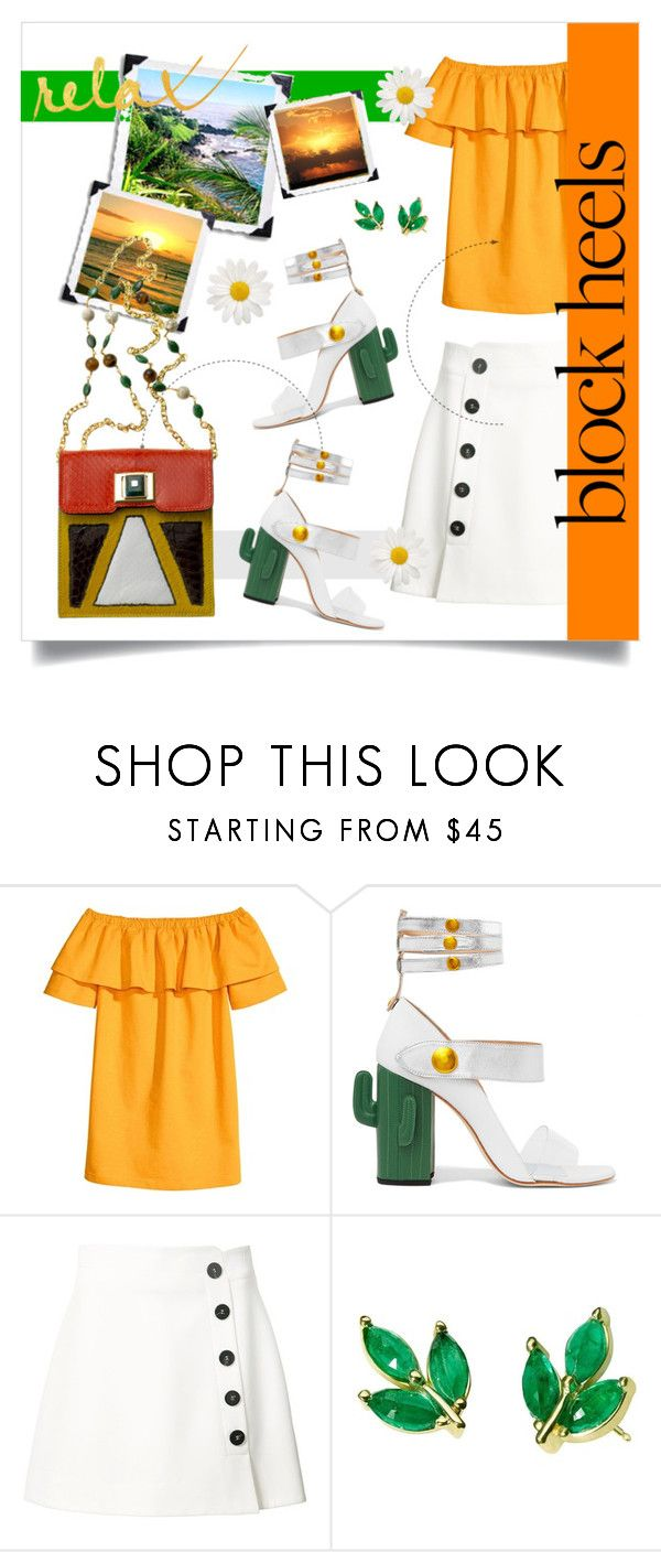 """""""Шаг Вверх: Блок Каблуки!"""" by miss-image ❤ liked on Polyvore featuring MR by Man Repeller, Misha Nonoo, Finn and Andrew Gn"""