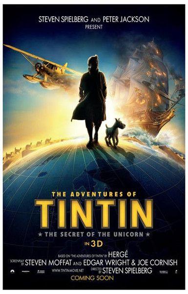 The Adventures of Tintin Unicorn Globetrot Movie Poster 11x17 – BananaRoad
