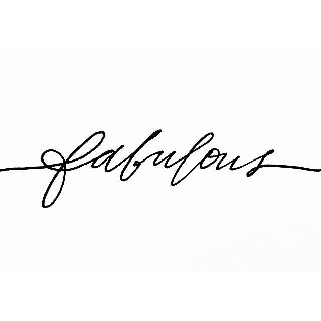 Forever fabulous.
