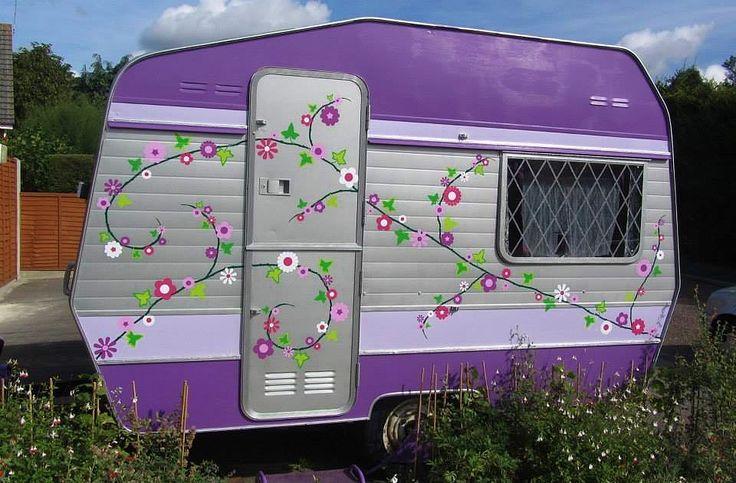 Purple Haze flower vine caravan stickers by Hippy Motors http://www.hippymotors.co.uk/GIANT+Mixed+flower+vine+car+sticker