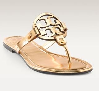 Tory Burch: Burch Sandals, Sho, Logo Thong Apparently, Tory Burch, Thongs, As, Logo Thong Love, Gold Sandals