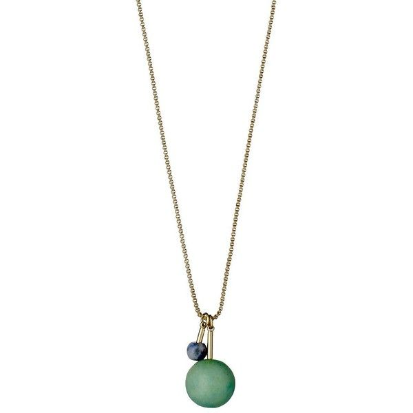 Pilgrim Morena Amazonite Pendant Necklace (62,725 KRW) ❤ liked on Polyvore featuring jewelry, necklaces, gold, pilgrim jewellery, pendant jewelry, pilgrim necklace, pendant necklaces and pilgrim jewelry