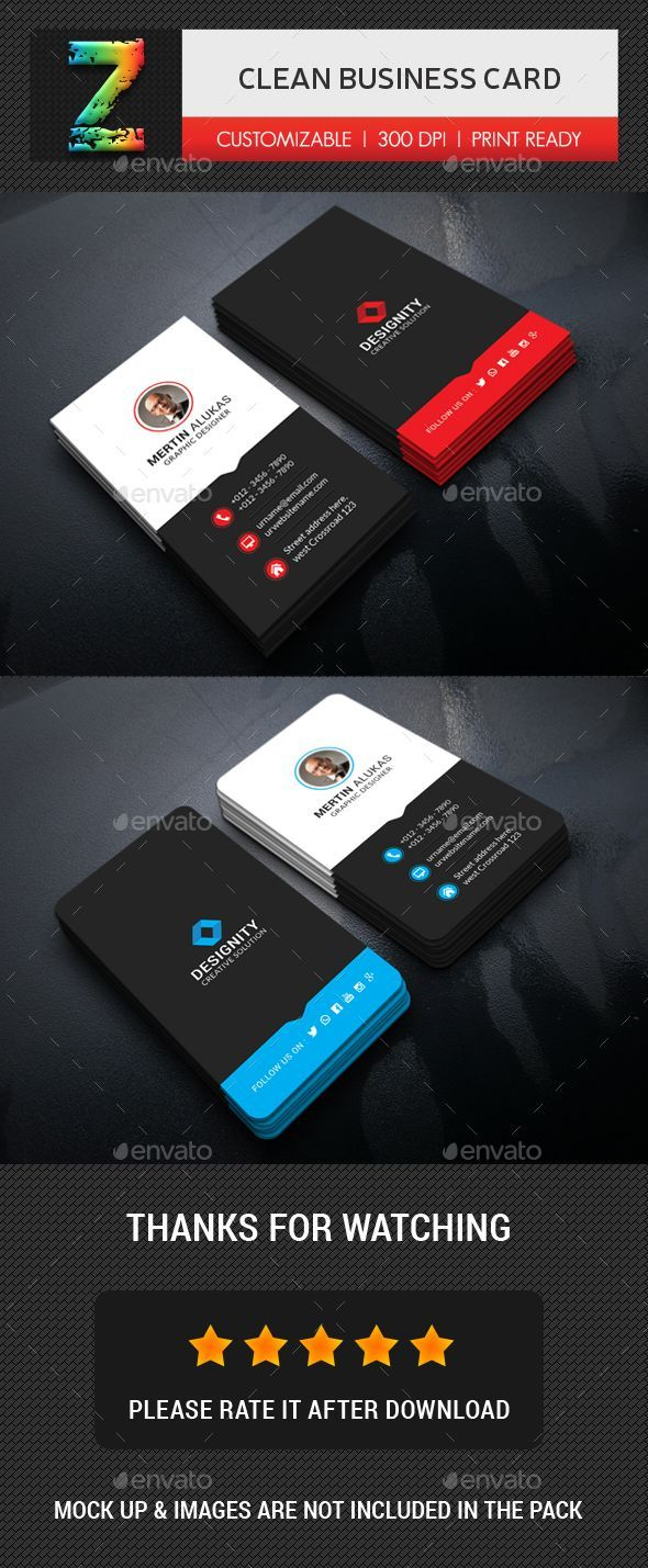 Clean Business Card Business Cards Print Templates Download Here Graphicri Cleaning Business Cards Printing Business Cards Letterpress Business Cards