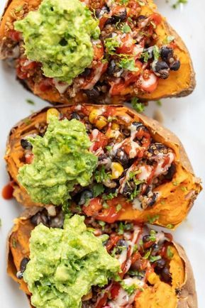 Mexican Quinoa Stuffed Sweet Potatoes  – Rice and grains / Riso e cereali
