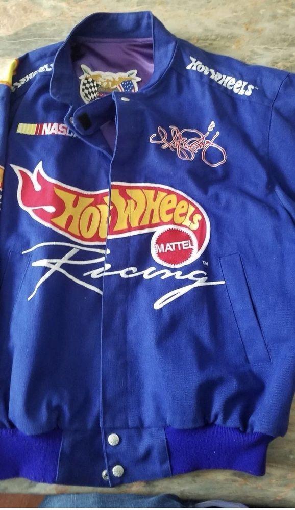 443a3a9d Kyle Petty Jeff Hamilton Mens L HOT WHEELS RACING NASCAR Jacket Embroidered
