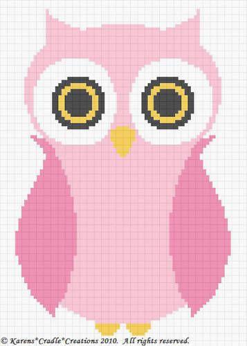 Crochet Patterns - OWL Baby Girl Afghan Pattern *EASY #KarensCradleCreations #Afghan