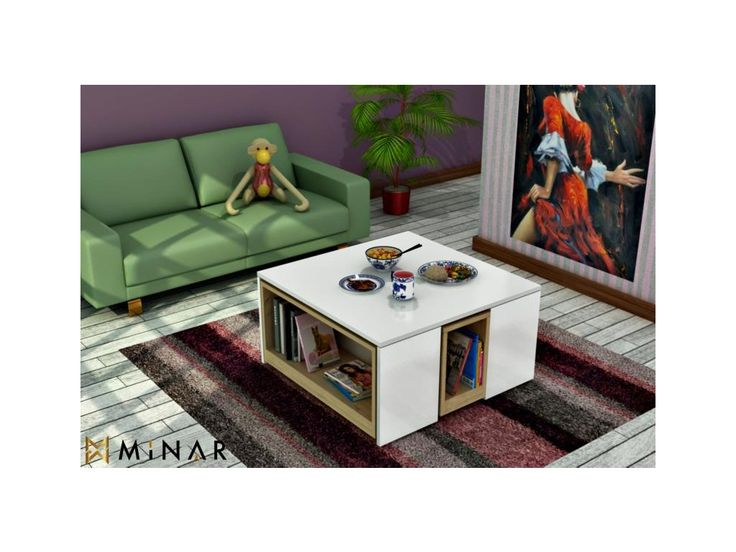 <p>Orignilální multifunční stolek poslouží jako vkusný konferenční stolek k Vaší sedačce a po vysunutí polic získáte další místo k sezení pro Vaše přátelé.</p>