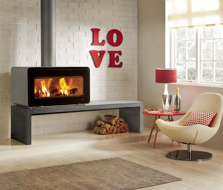 The exquisite and the luxurious Lotus Living freestanding wood burning fire is a unique creation.