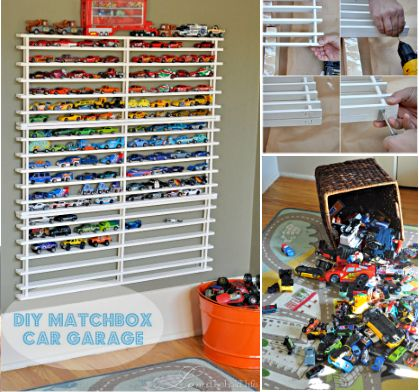 Since my boys don't want to get rid of their cars they need a matchbox car garage