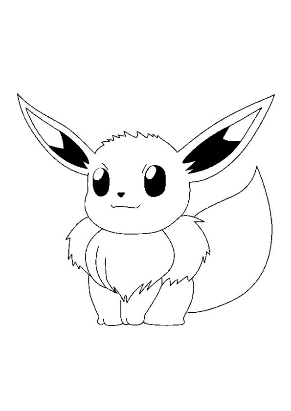 Le Pokémon Evoli, à colorier