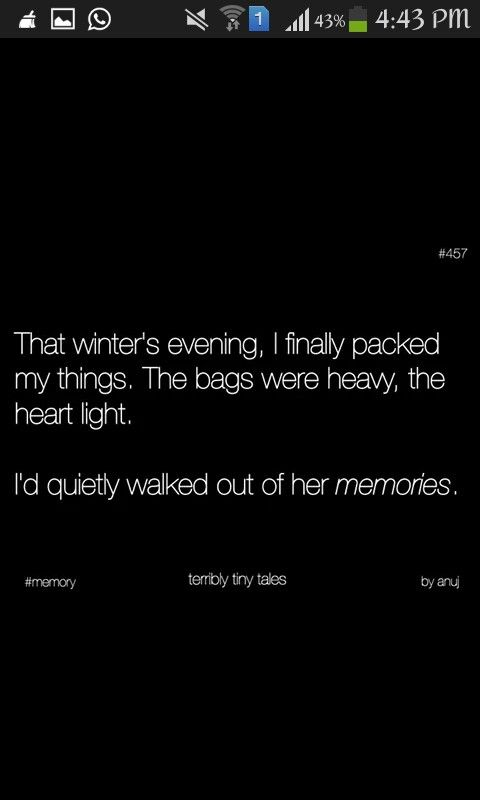 Terribly tiny tales-memory!