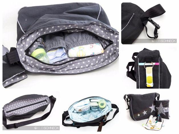 Nähanleitungen Taschen - Nähanleitung Kinderwagentasche Wickeltasche ebook - ein Designerstück von Kubischneck bei DaWanda