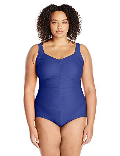 62b4b281b893a New Maxine Of Hollywood Women's Tricot Shirred Girl Leg One Piece Swimsuit  online. Find the perfect JAKY Global Swimsuit from top store.