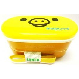 Rilakkuma lunch boxes make eating fun!  With two seperate sections plus a removable divider this lunch box has plenty of room. www.cheekychuckles.com.au   Includes chopsticks Size 16x9cm