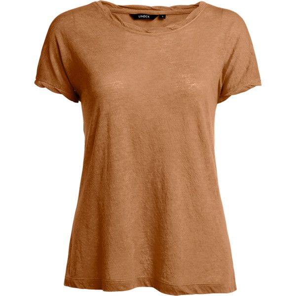 T-shirt ($12) ❤ liked on Polyvore featuring tops, t-shirts, beige top, beige t shirt, burnout t shirt and burnout tee
