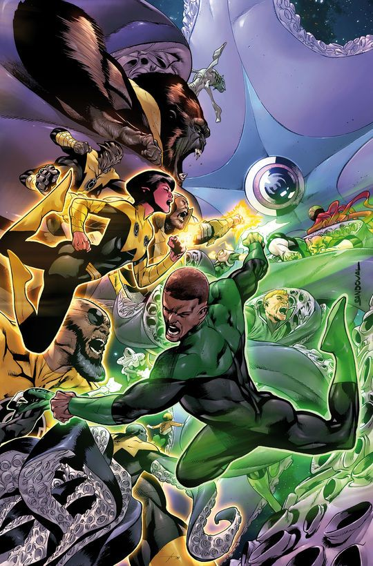 Hal Jordan and the Green Lantern Corps by Rafa Sandoval