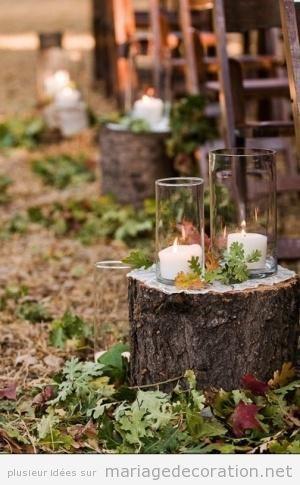 idées déco cérémonie mariage automne exterieur