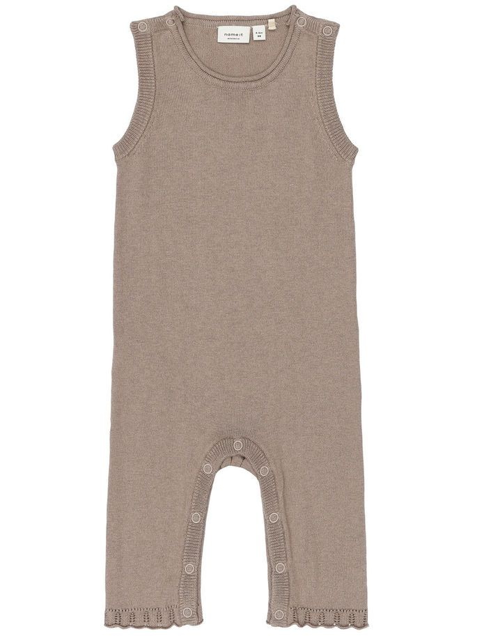NEWBORN NITLACEY KNIT SUIT, Cinder, large