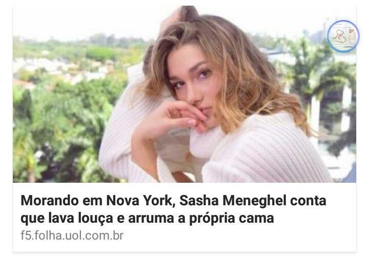 A Sasha, a filha de Xuxa, revoluciona o mundo. Ela simplesmente assume que faz tarefas domésticas… Sei o quanto isso é chocante, mas é verdade ! Leia mais:Sasha arruma a própria cama…