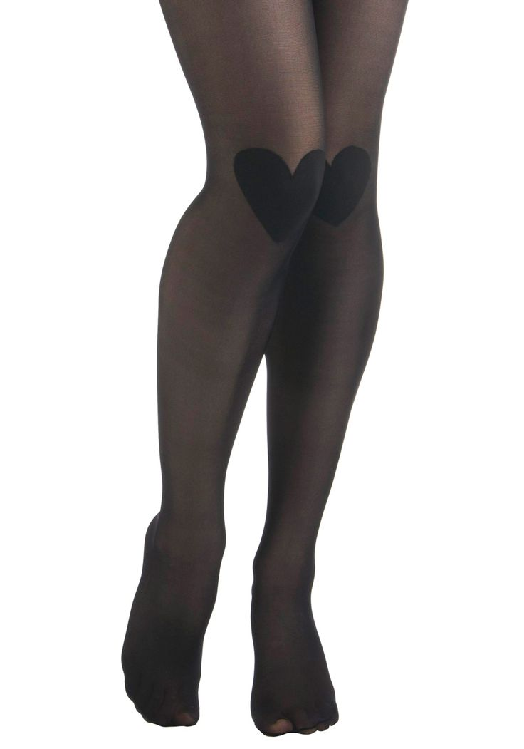 <3 <3 heart tights #style #black
