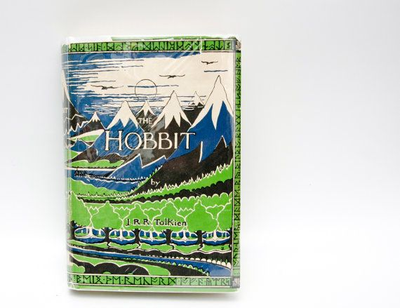 Early Printing The Hobbit JRR Tolkien  by HudsonPulpAndRockets