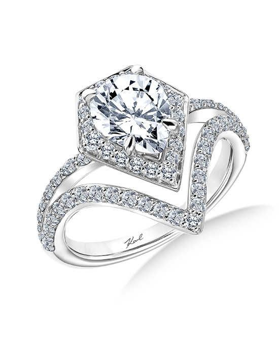 KARL LAGERFELD Unique Pear Cut Engagement Ring