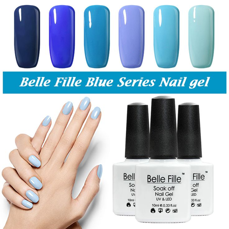 Belle Fille UV Gel Nail Polish Blue series Nail Polish Gel LED Light UV Manicure for Gel Nail Blue Sky Color Fingernail Polish