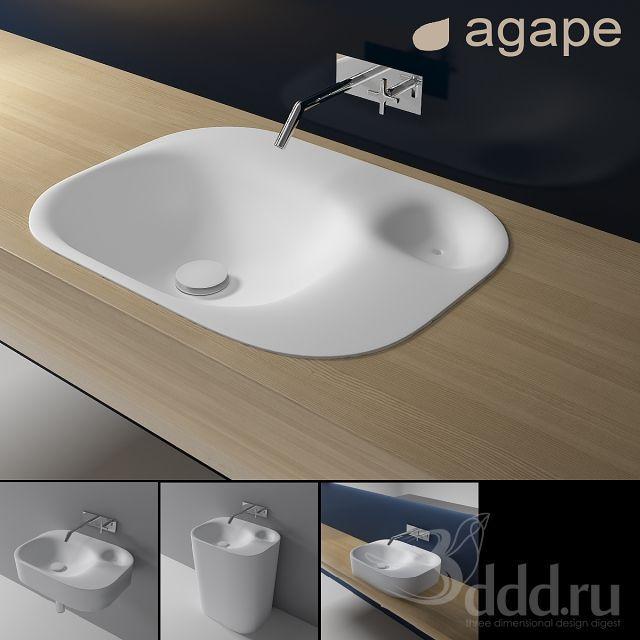 """PROFI"" Agape 3dsMax 2013 + fbx (Vray) : Умывальники : Файлы : 3D модели, уроки, текстуры, 3d max, Vray"