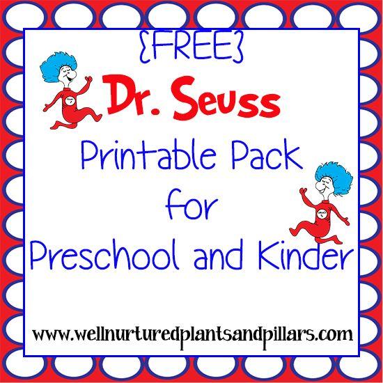 17 Best ideas about Dr Seuss Printables on Pinterest | Doctor ...