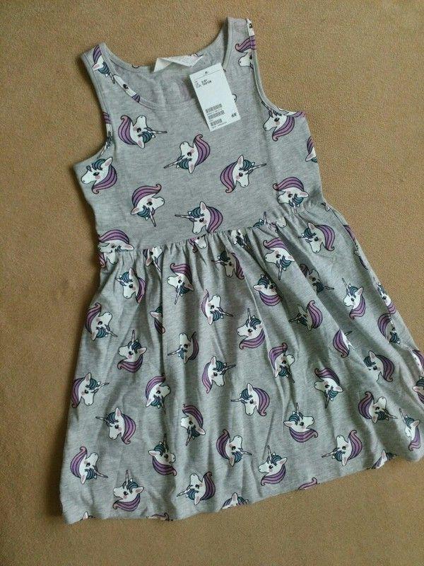Prodám nové šaty s jednorožci z H&M. Velikost 122/228 , 6-8 let. S visačkou. #jednorozcisaty #jednorožec #jednorožci #ham ...
