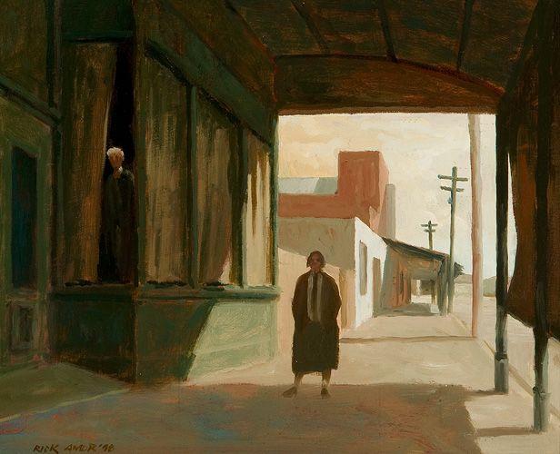 RICK AMOR, 1948 - Miss Prosser and the albino, 1998, 26 x 32cm