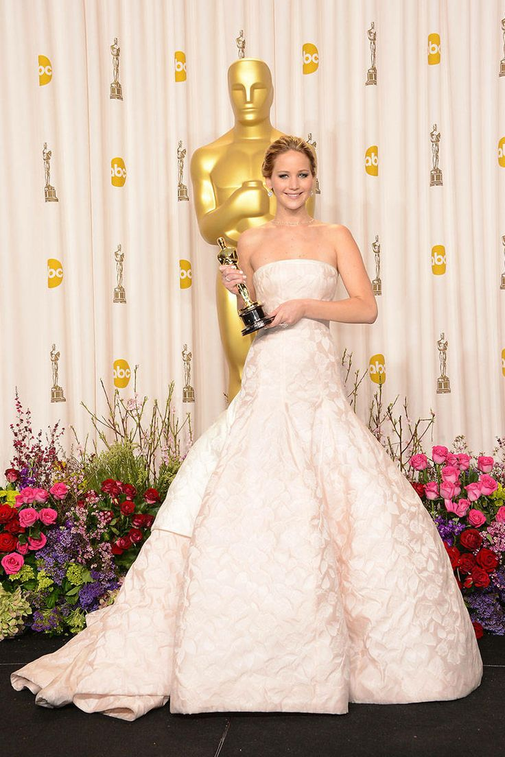 Oscar winning celebrity wedding dresses - Jennifer Lawrence Best Actress Winners In Their Gowns Oscars Fashion Through The Years Elle