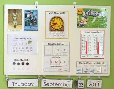 17 best ideas about preschool boards on pinterest spring for Calendar bulletin board printables