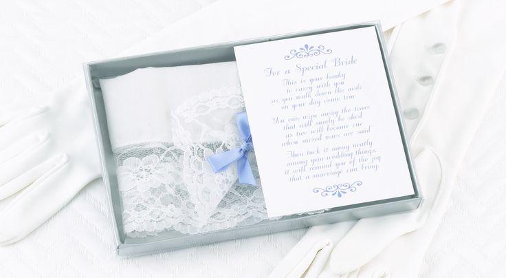 The Thank You Company - Bride's Handkerchief, $16.00 (http://www.thankyou.on.ca/brides-handkerchief/)