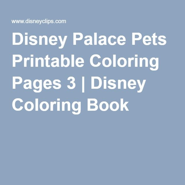 Disney Palace Pets Printable Coloring Pages 3