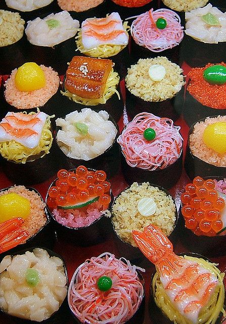 Sushi  Colorful ~ Beautiful ~ Food #art