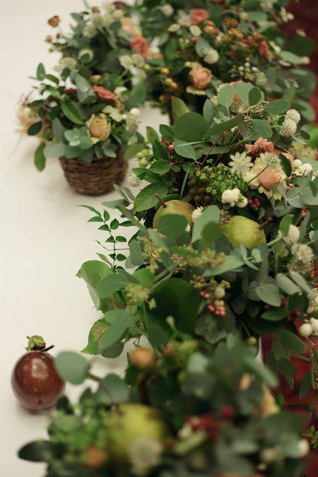 秋の装花 絵本と収穫祭 代官山PACHON様へ
